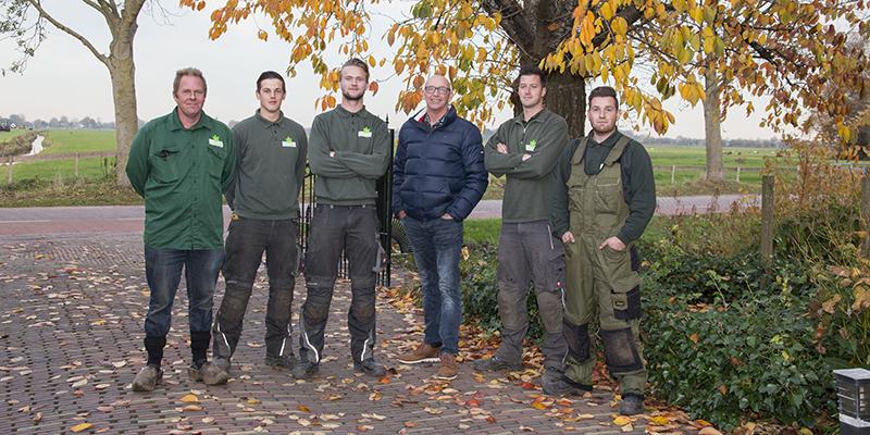 Het team van Loek Barte Hovenier