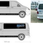 het ontwerp van Maco Autoschadeherstel