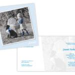 Foto thuis bij ouders gemaakt en later de strik en jurkje etc blauw gekleurd.