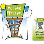 Voor Marions Pretflat haar logo getekend en ingekleurd met illustrator