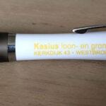 Pennen bedrukt voor Kasius Loon en Grondverzet