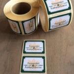 Stickers voor dorpswinkel de Kastanjehoeve