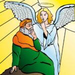 Voor de Pauluskerk posters gemaakt om voor t raam te hangen. getekend en digitaal in illustrator ingekleurd.