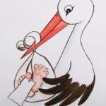 tekening voor geboortekaartje
