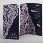 12,5 jarig huwelijk jubileumkaart 9,8 x 21cm staand, het kant is van de galajurk van de bruid het feest had namelijk als themas gala