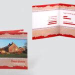 Klein 10x10cm verhuiskaartje op Ansichtkaartenpapier gedrukt